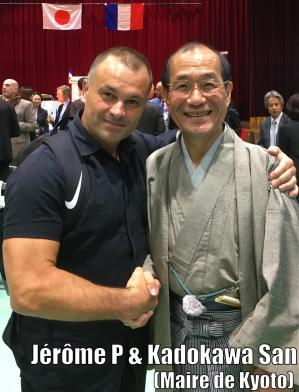 Jerome Pailliette & kadokawa san le maire de kyoto