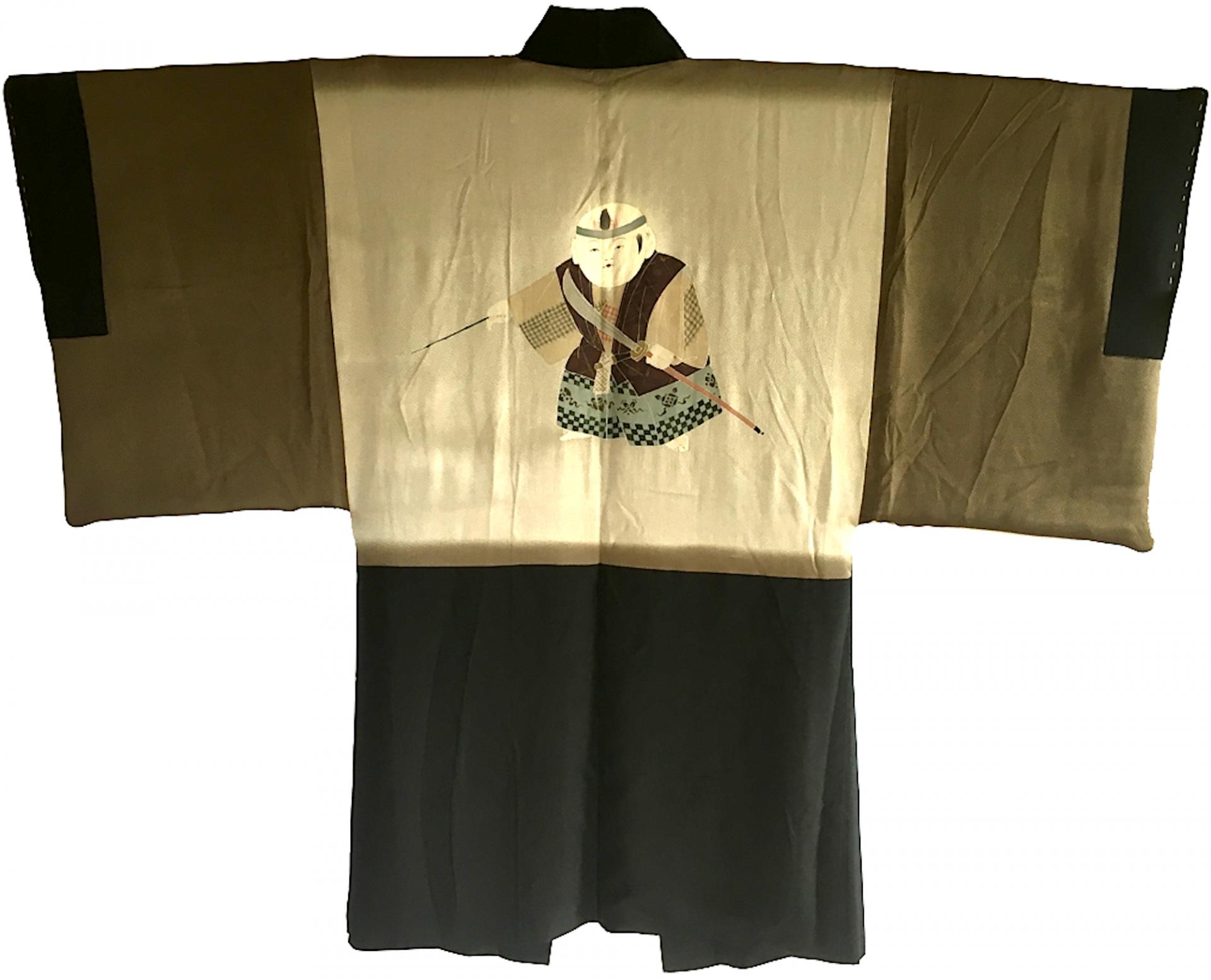 Antique haori samourai kabuki no kodomo montsuki s 3