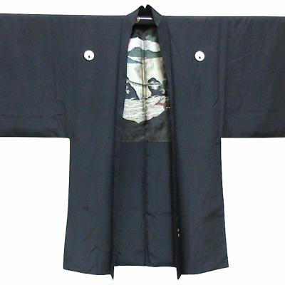 Antique haori samourai meoto iwa ise maruni dakimy