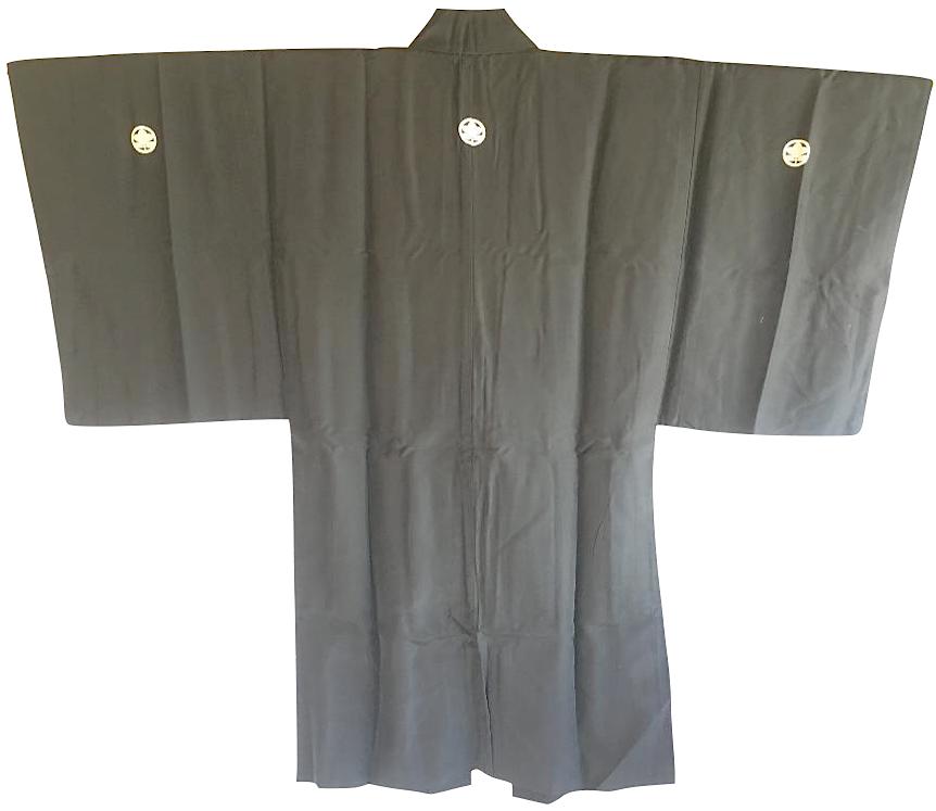 Antique haori samourai sore noire zen daruma 1 1