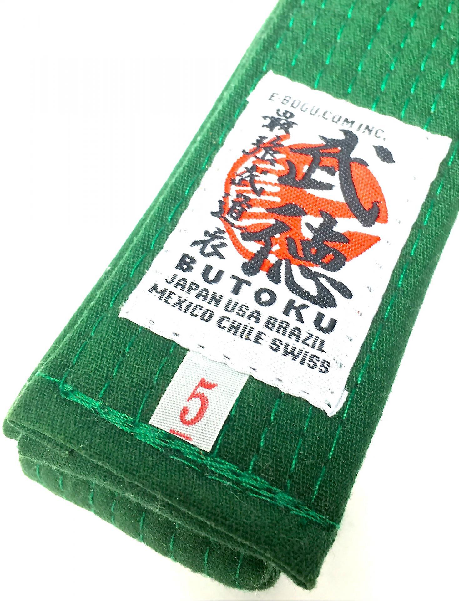 Ceinture vert ninjutsu butoku ninjutsushop