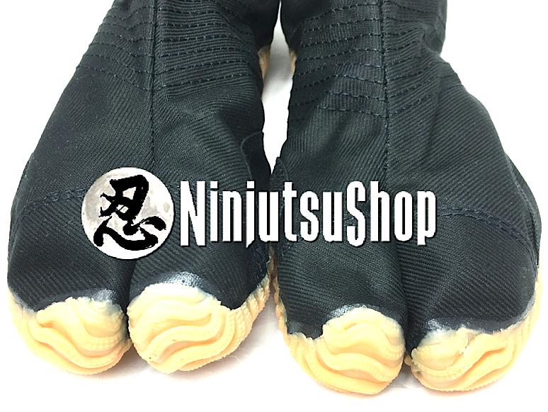 Finition bout de pied chaussure jikatabi ninja jog noir 12 kohaze ninjutsushop com