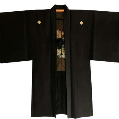 "Men's Samurai Haori kimono jacket Ginkakuji Kinkakuji ""Made in Japan"""