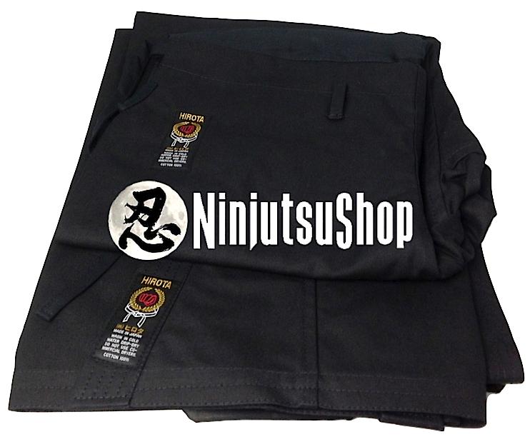 Hirota ninjutsu gi black cotton ninjutsushop