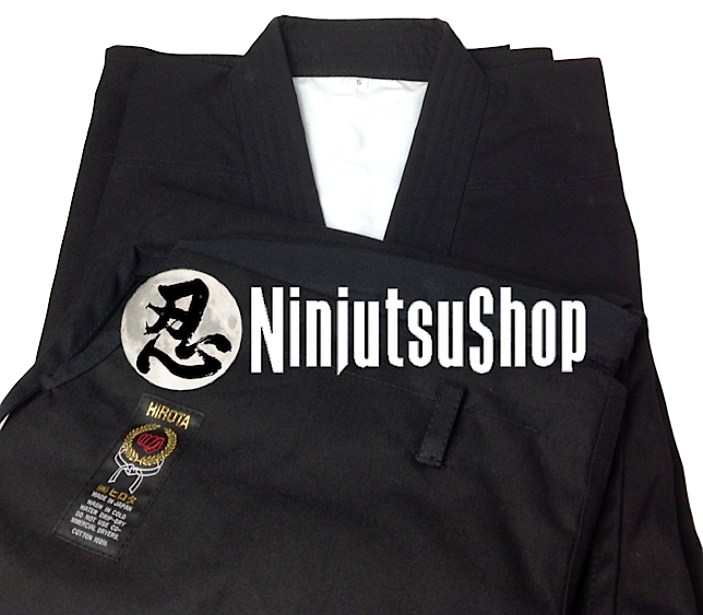 Hirota ninjutsu uniform black cotton ninjutsushop