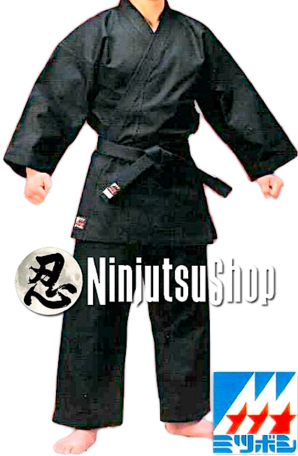 Ninjutsugi mitsuboshi noir coton made in japan