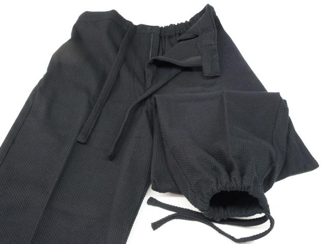 Pantalon luxe samue japonais sashiko noir coton zoom