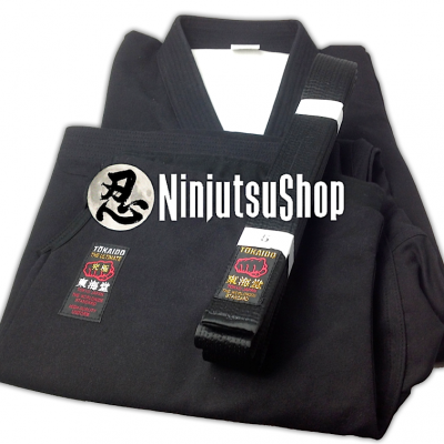 Kongo Sab Tokaido Ninjutsu Uniform Set black cotton