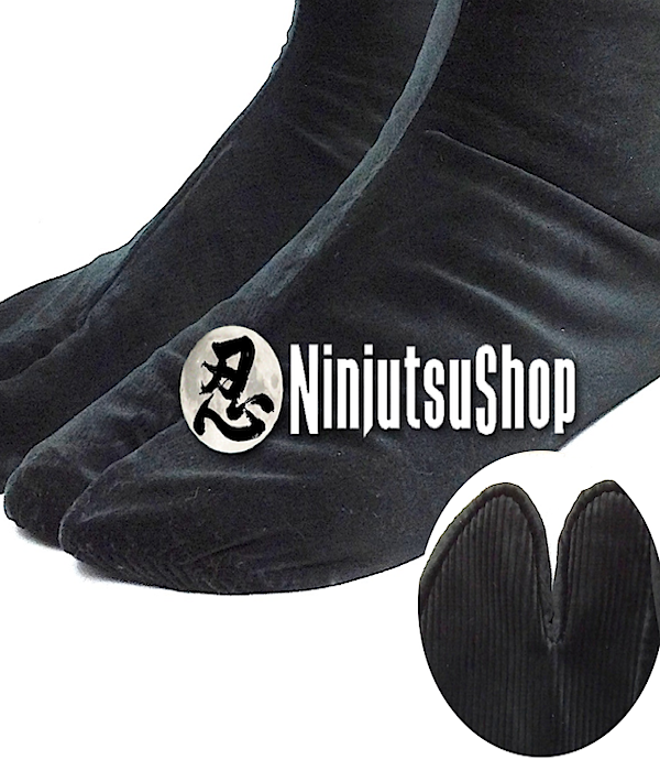 Tabi ninja hiver noir coton ninjutsushop