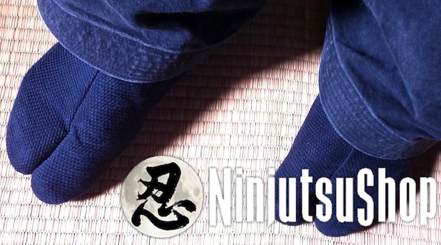 Tabi ninja sashiko noir coton ninjutsushop com