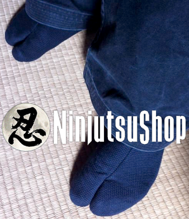 Tabi ninja sashiko noir coton