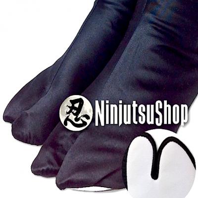 Tabi ninjutsu hikari noir coton brillant made in japan