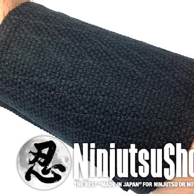 Tekkou ninjutsu sashiko noir coton 1