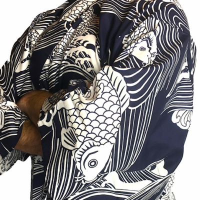 Japanese Carp Koi Men's Yukata